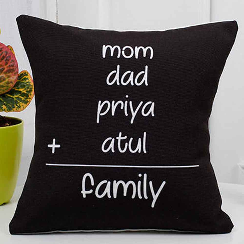 Personalized Family Cushion