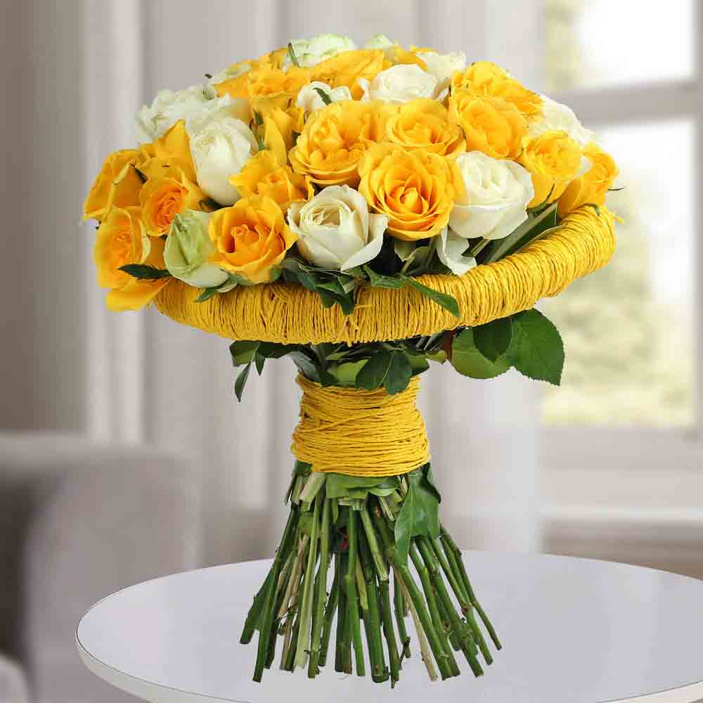 Amazing Yellow Roses Bunch