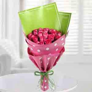 Red Roses-Pretty Pink Roses Bunch
