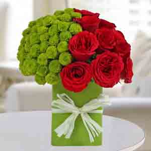 Designer Arrangements-Enticing Red Roses Arrangement