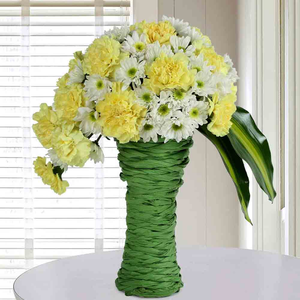 Daisies N Carnations Arrangement