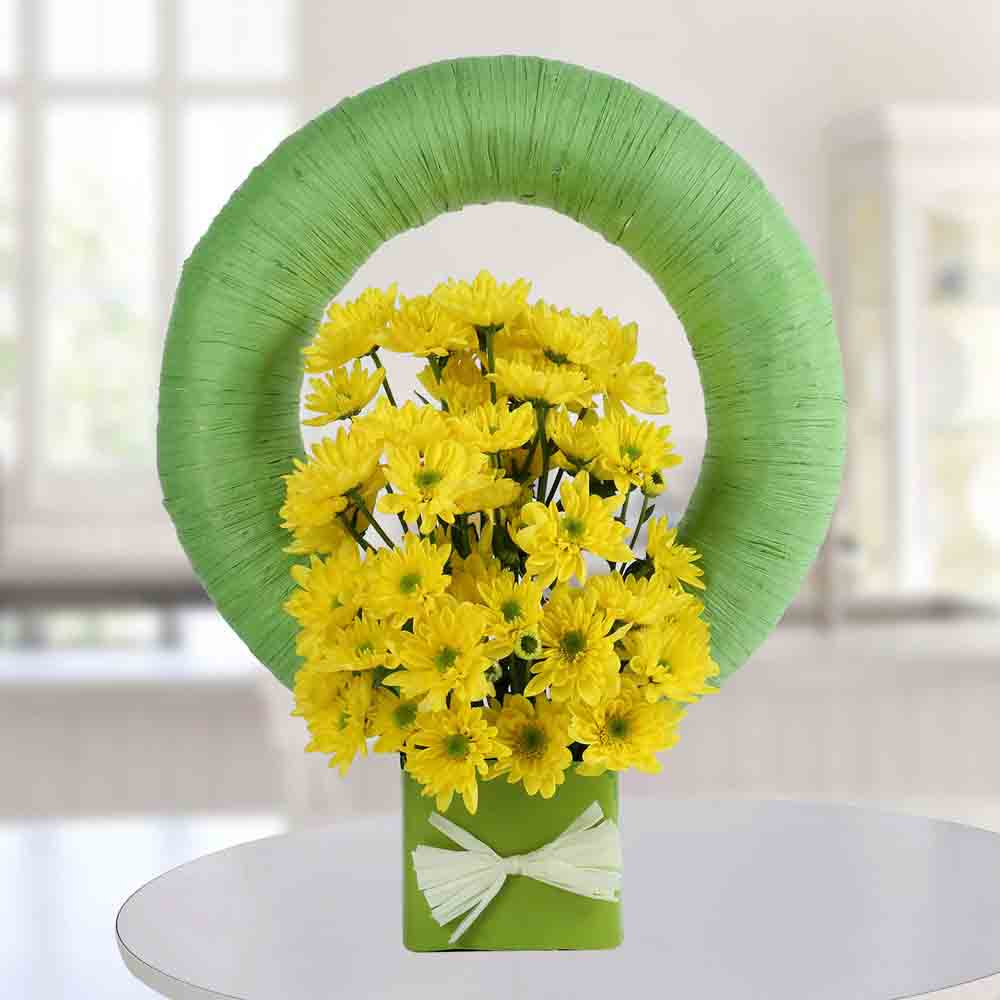 Yellow Daisy Arrangement