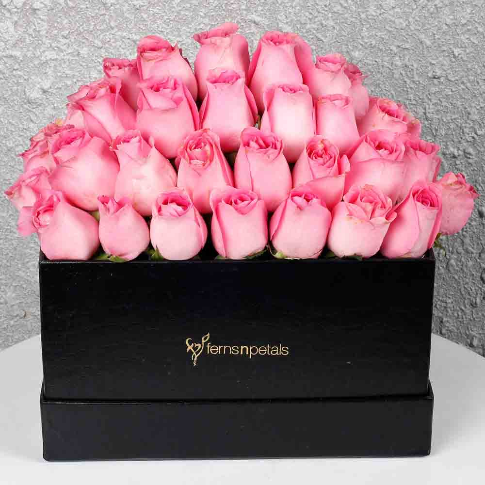 Pink Roses Box of Happiness