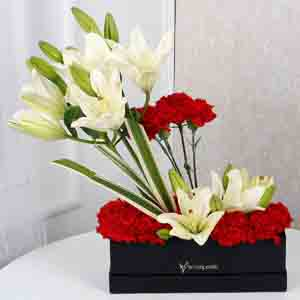 Designer Arrangements-Enchanting Lilies N Carnations