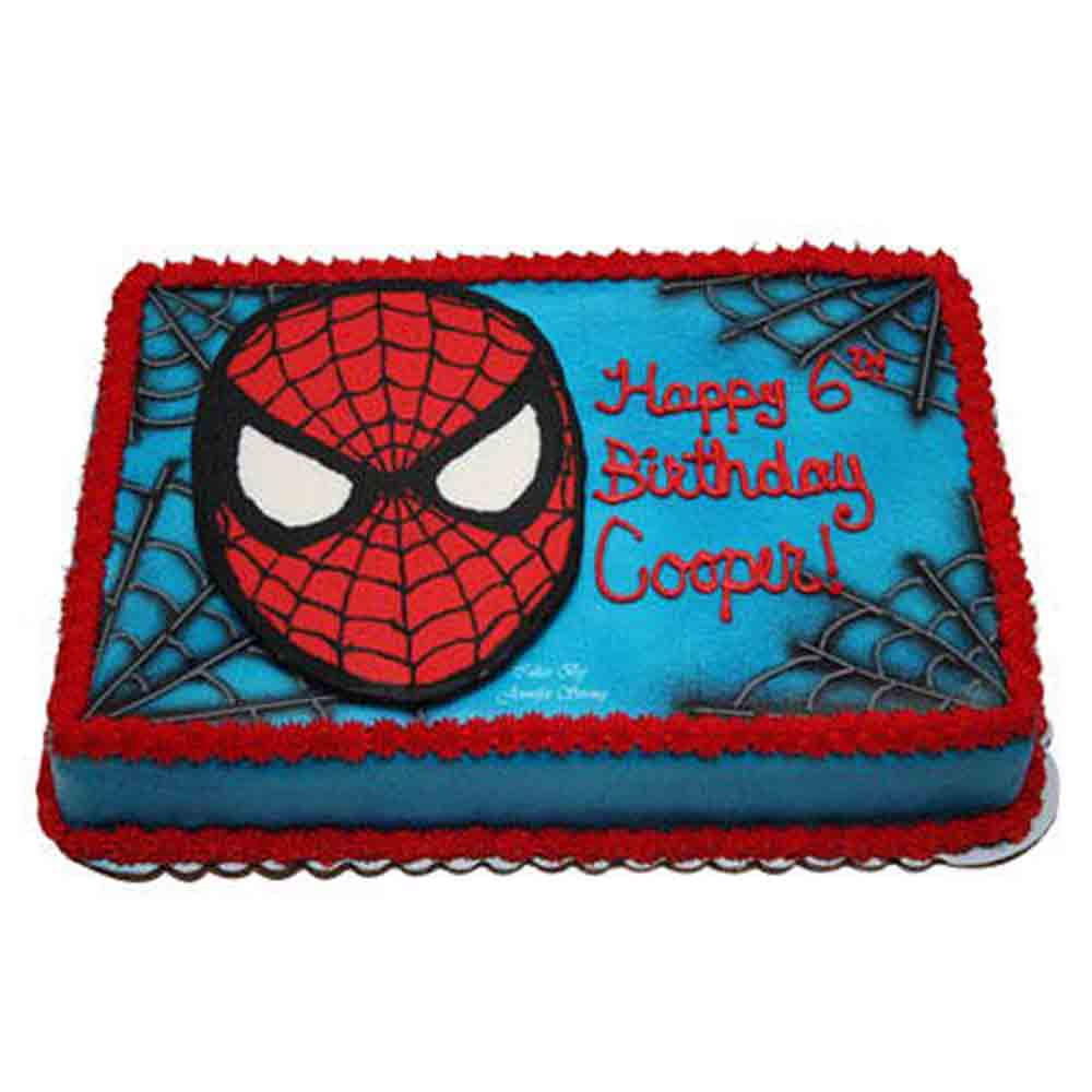 Mask of Spiderman Cake 1kg Chocolate Eggless