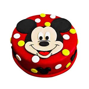 Adorable Mickey Mouse Cake 1kg Pineapple