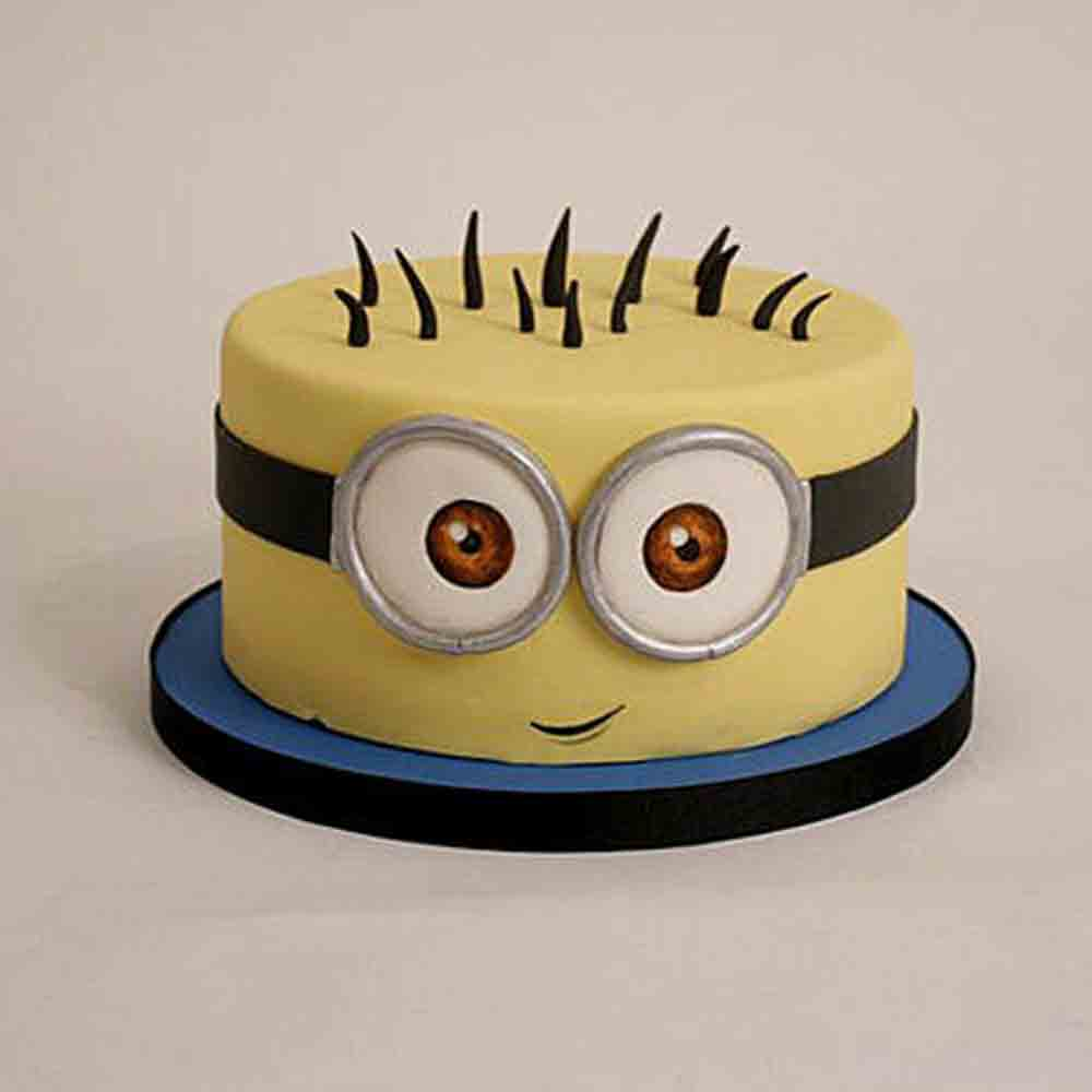 Minion Cartoon Cake 1kg Chocolate
