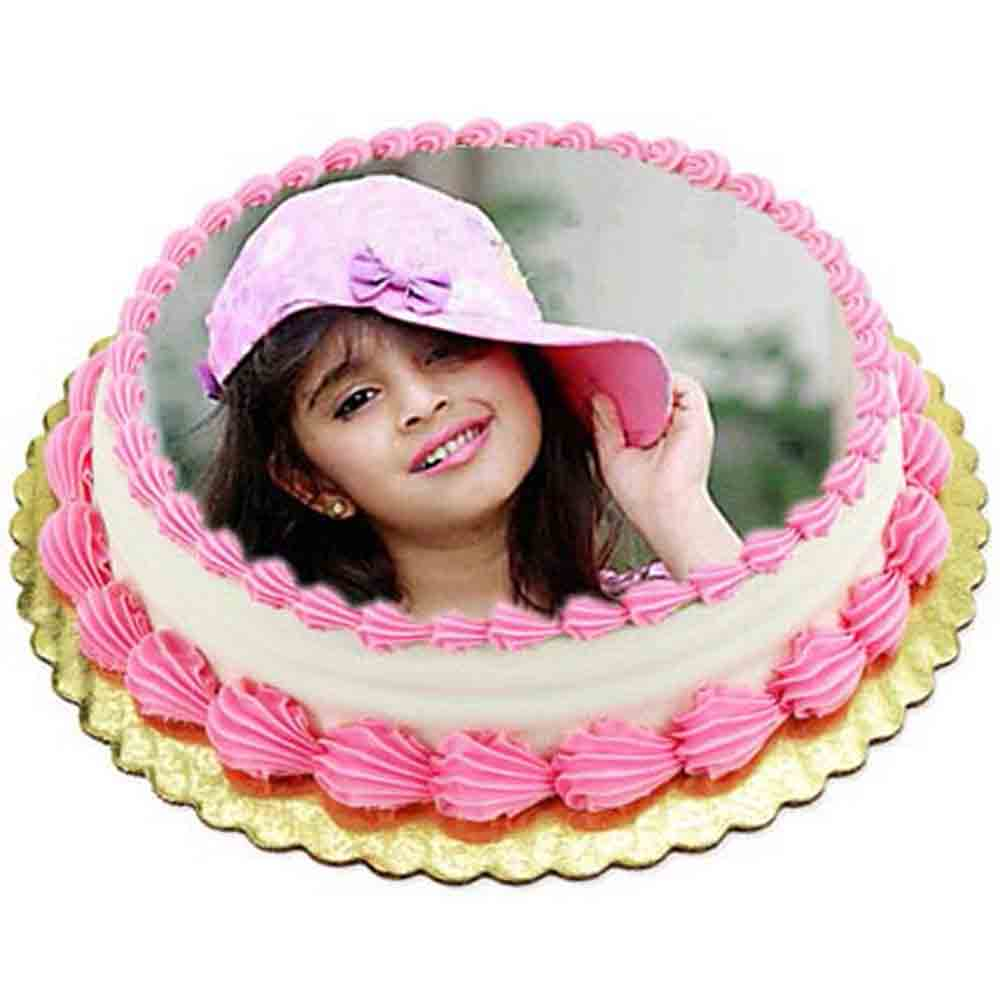 Vanilla Photo Cake1kg Eggless
