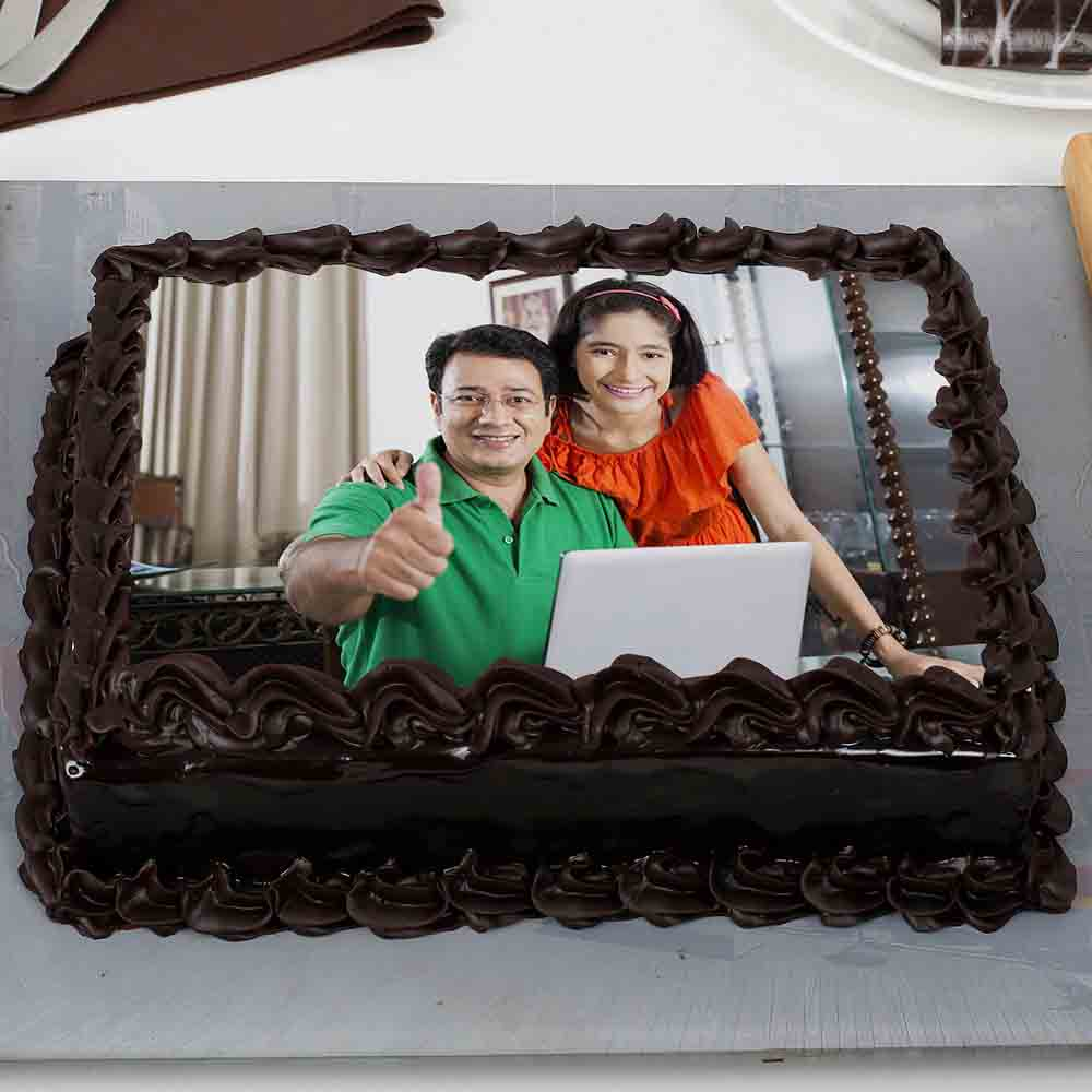 Rich Chocolate Truffle Photo Cake 1kg Eggless