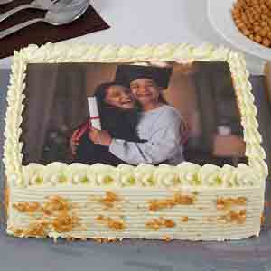 Photo Cakes-Yummy Butterscotch Photo Cake For Mom 1kg Eggless