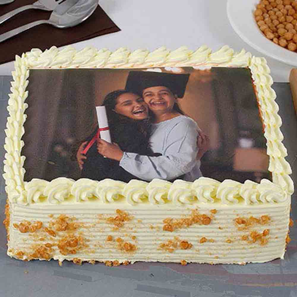 Yummy Butterscotch Photo Cake For Mom 1kg Eggless