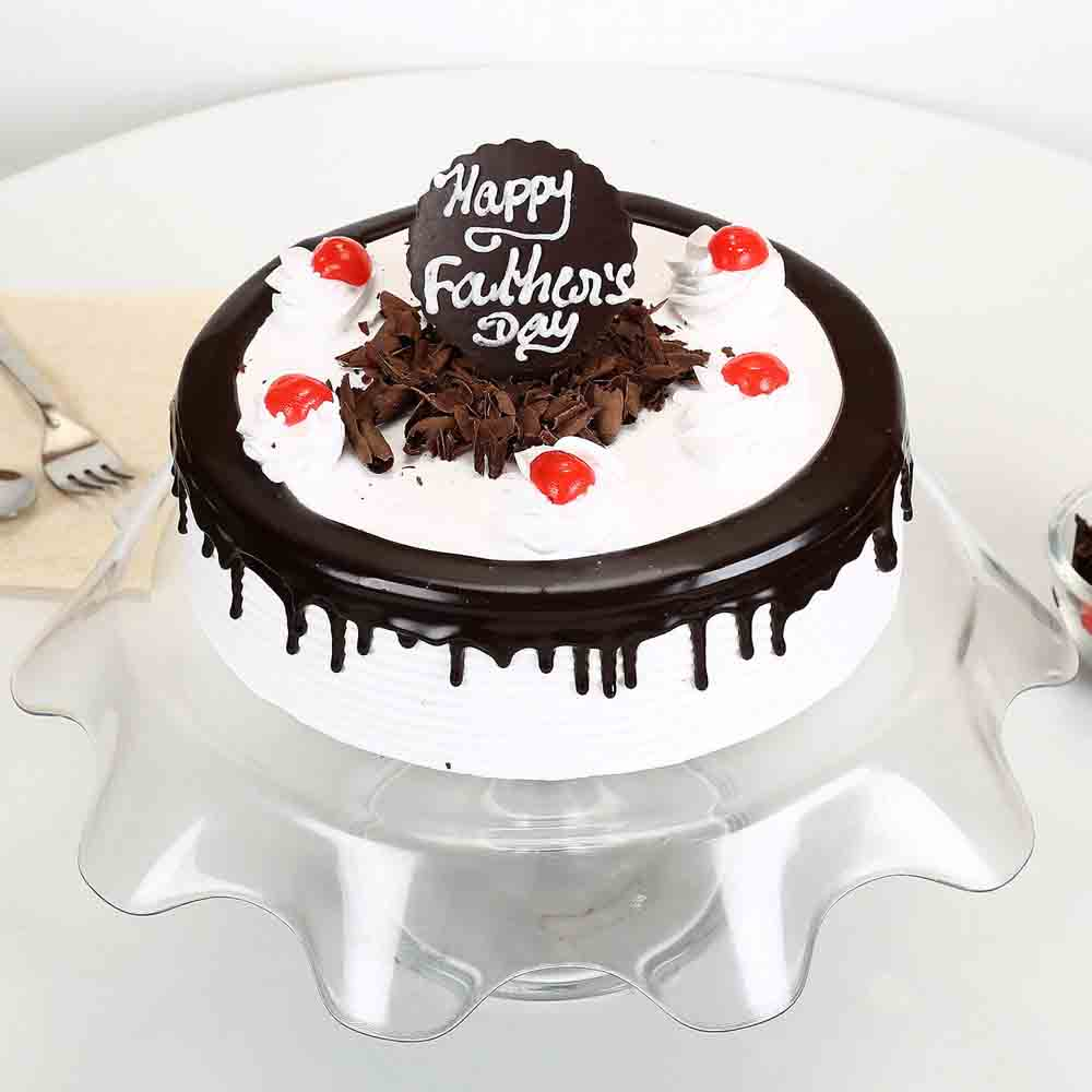 Black Forest Fathers Day Cake Half kg Eggless