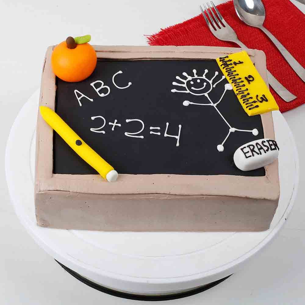 Black Board Special Cake 1kg Eggless