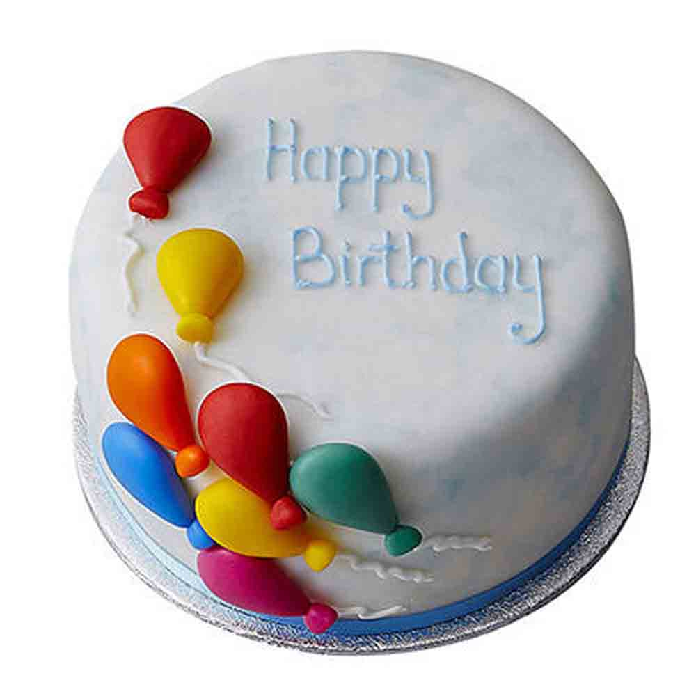 Birthday Balloon Fondant Cake Chocolate 1kg