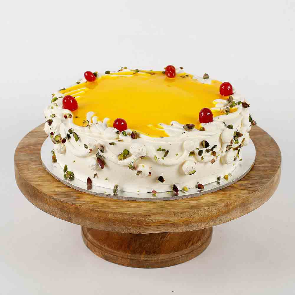 Cream Pista Pineapple Cake- Half Kg