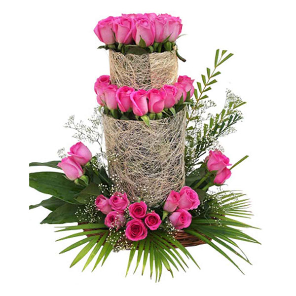 75 pink rose arrangement
