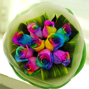 Send Gifts To India Send Flowers Fruits To India Rainbow Roses
