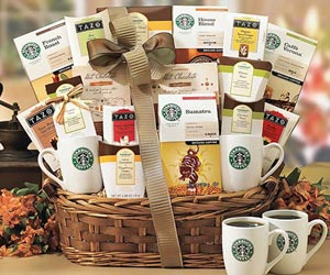 Send Gifts To India Send Starbucks And Tea Gift To India