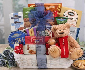 Teddy Bear Gift Basket Hugs