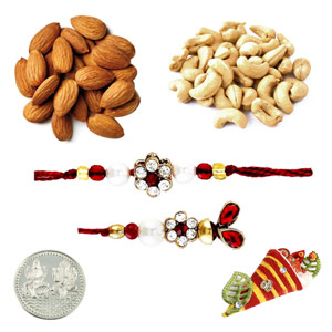 Sweets & Dryfruits-Lumba Pair with Half Pound Assorted Dryfruits