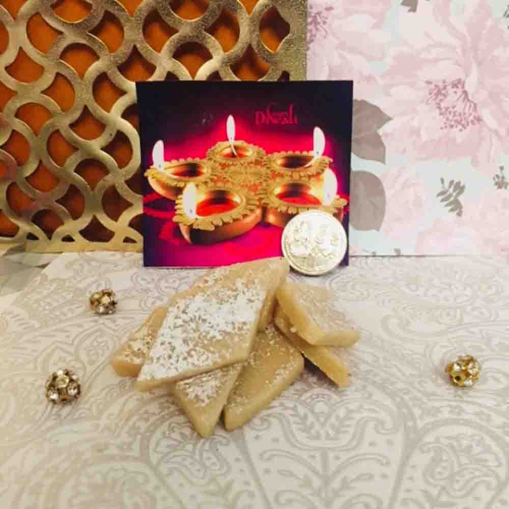 450 Grams Kaju Katli with Free Silver Coin