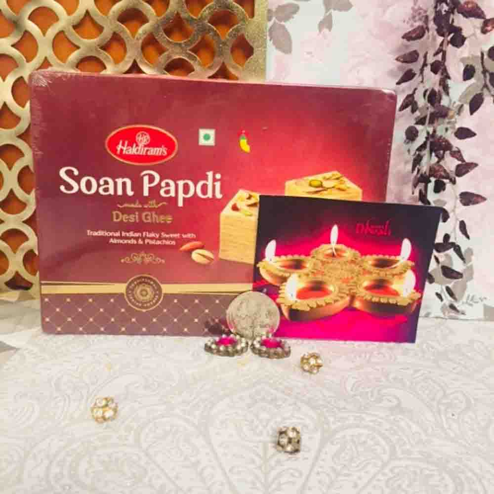 Diwali Shagun with Haldiram Soan Papadi 500 grams