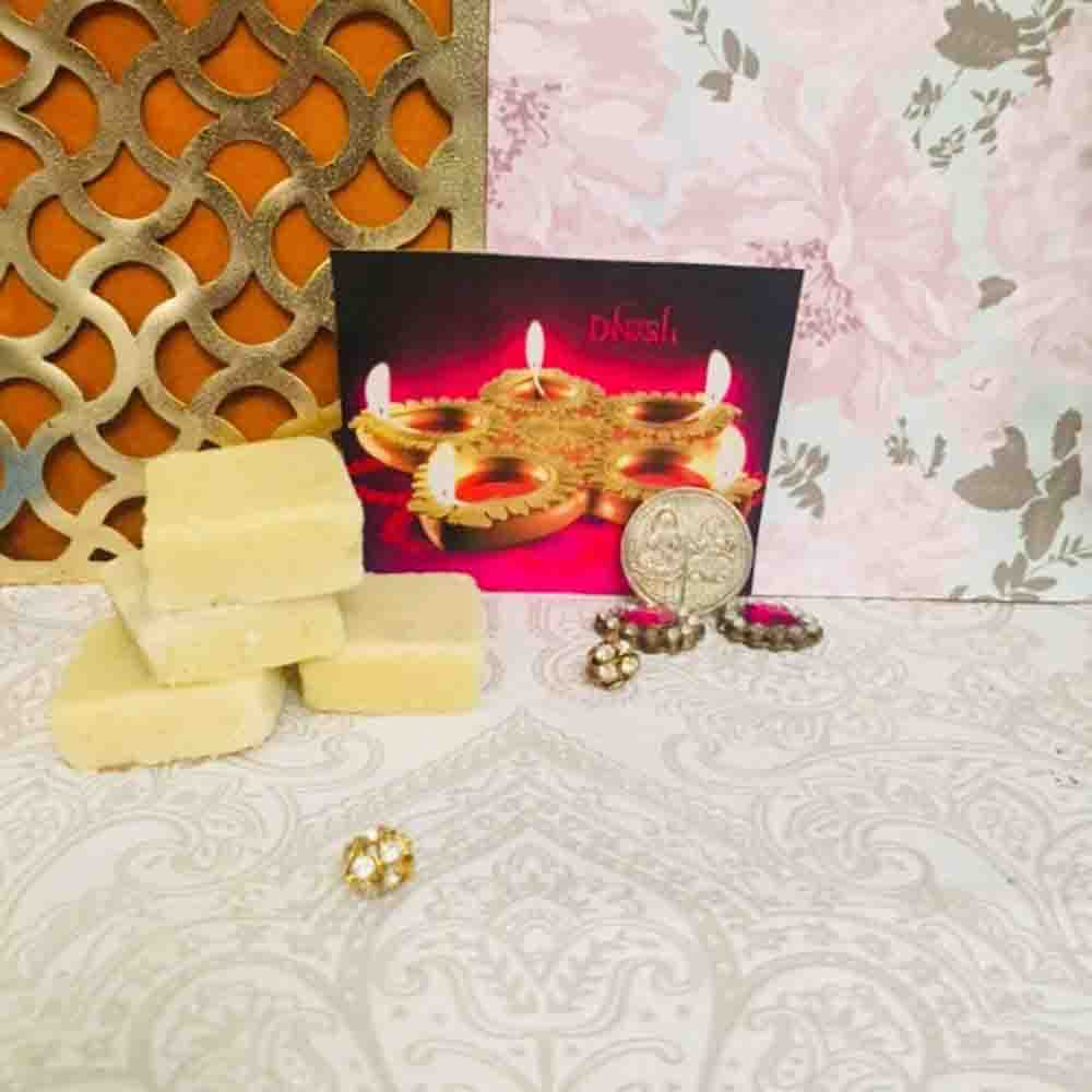 Diwali Shagun with Haldiram Plain Burfee 340 grams