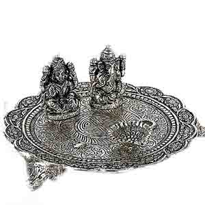 USA Special-Antique Finish Pooja Thali