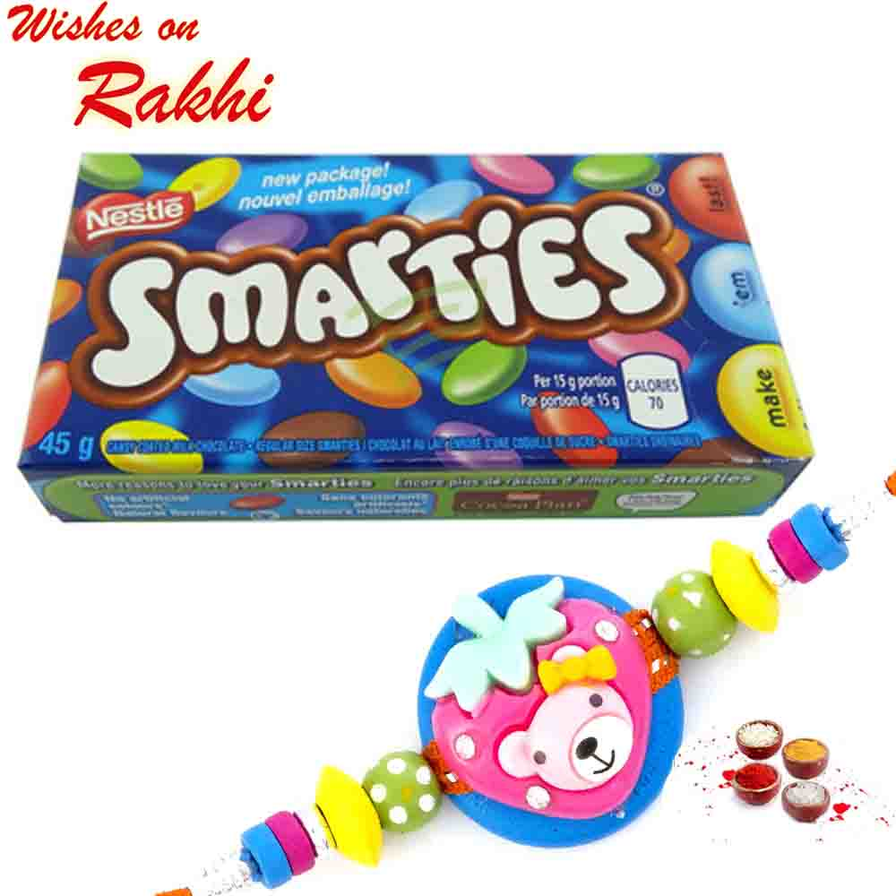 Nestle Smarties Chocolate with Bhaiya Rakhi