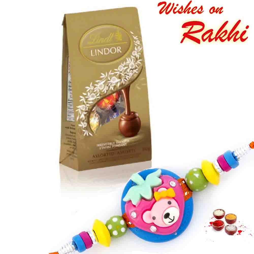 Lindt Lindor Assorted Chocolate with Bhaiya Rakhi