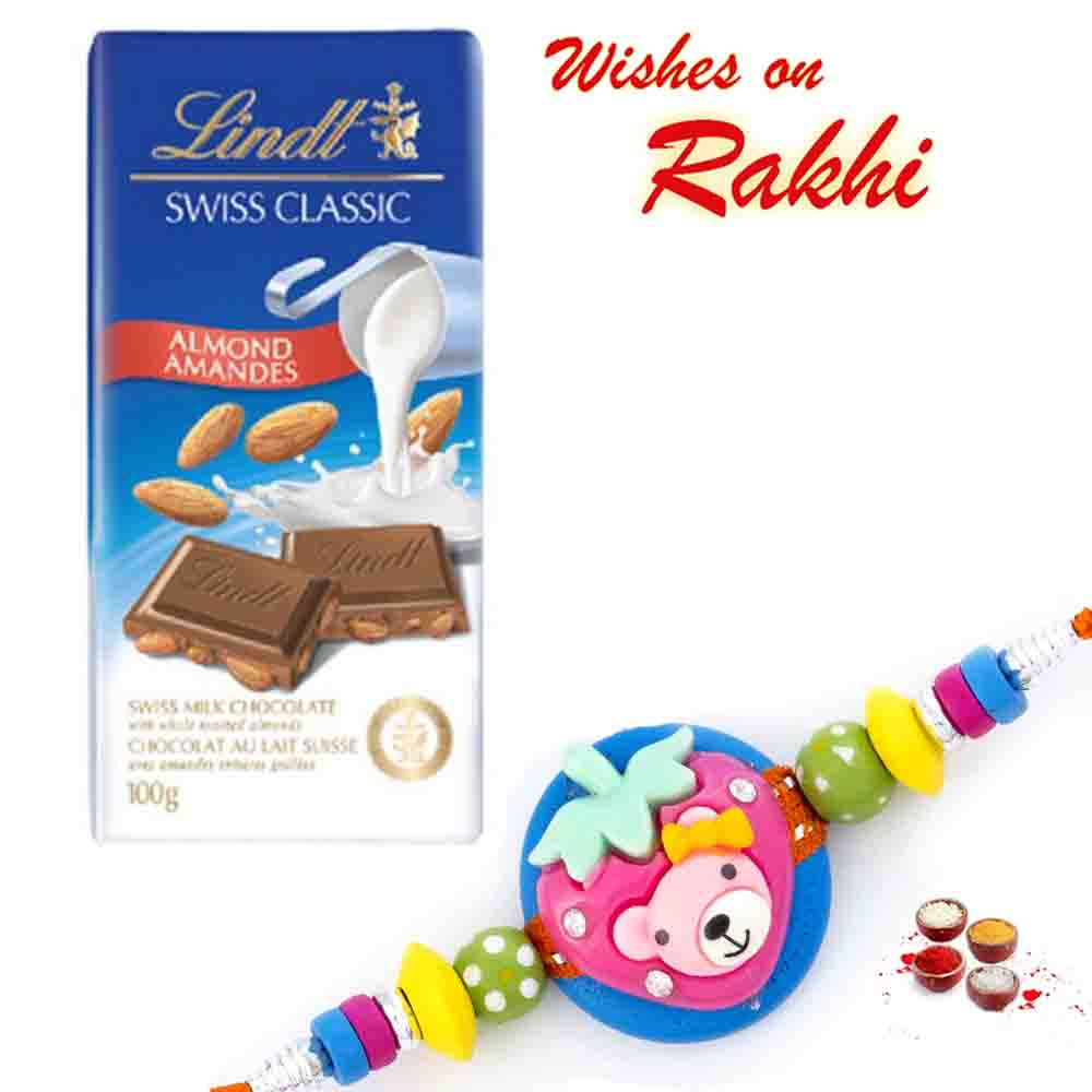 Lindt Swiss Classic Almond Chocolate with Bhaiya Rakhi
