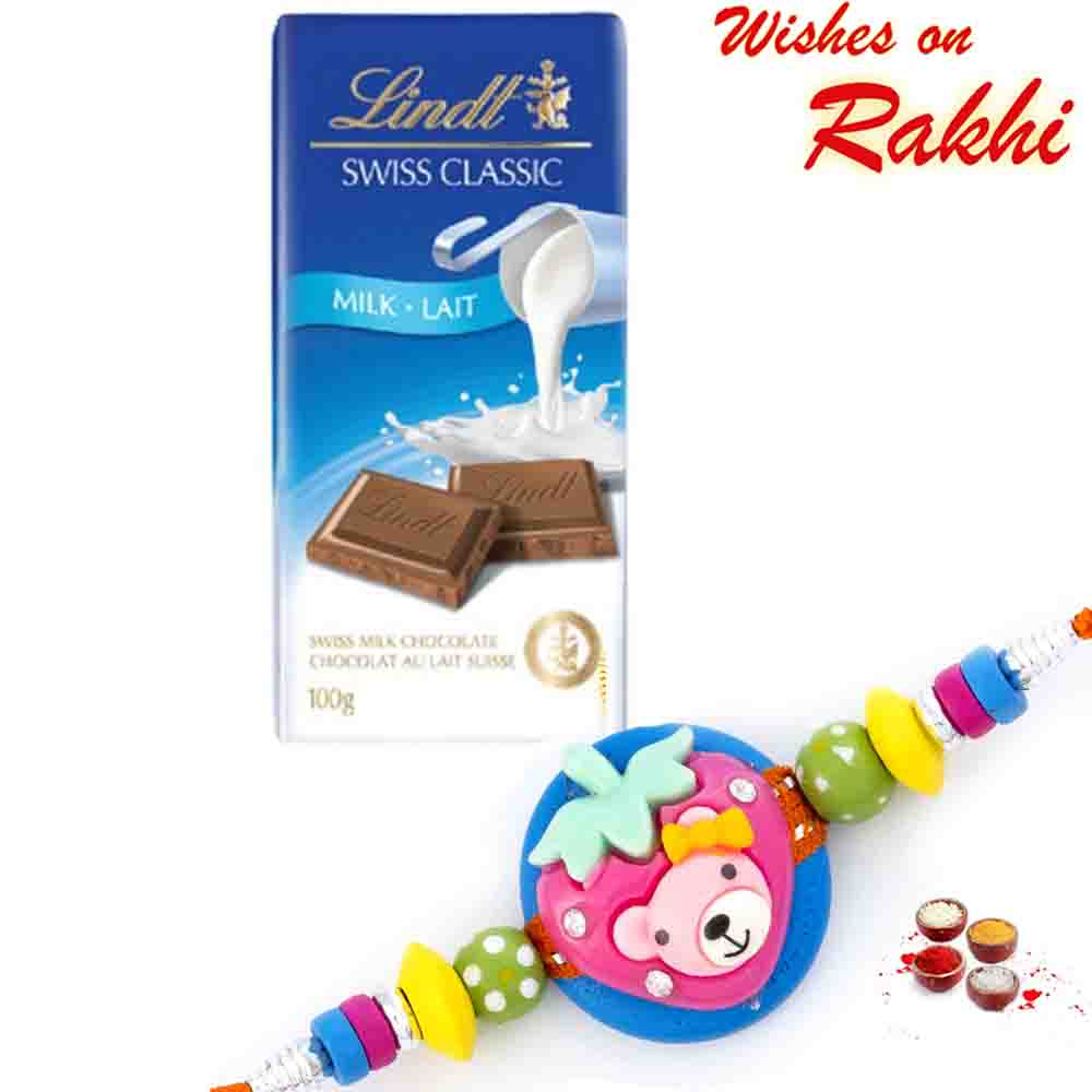 Lindt Swiss Classic Milk Lait Chocolate with Bhaiya Rakhi