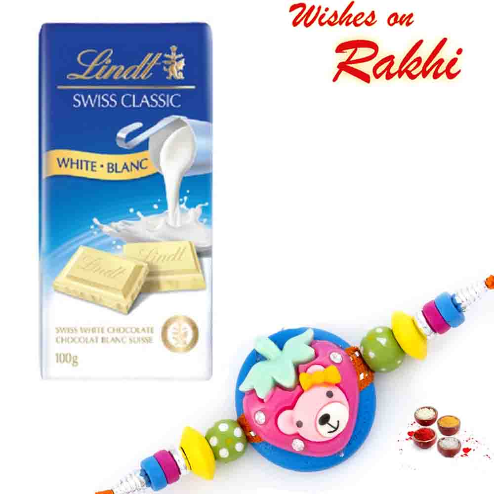 Lindt Swiss Classic White Blanc Chocolate with Bhaiya Rakhi