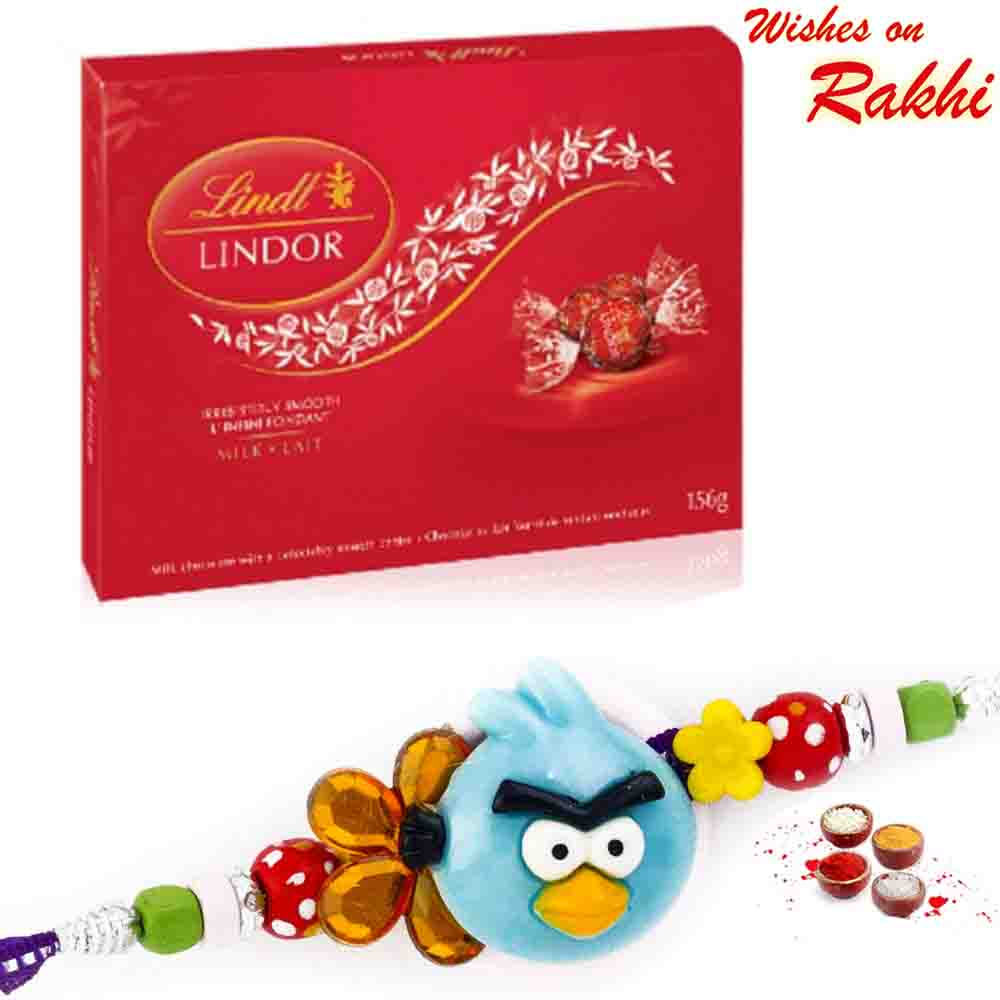 Lindt Lindor Milk Lait Chocolate with Bhaiya Rakhi