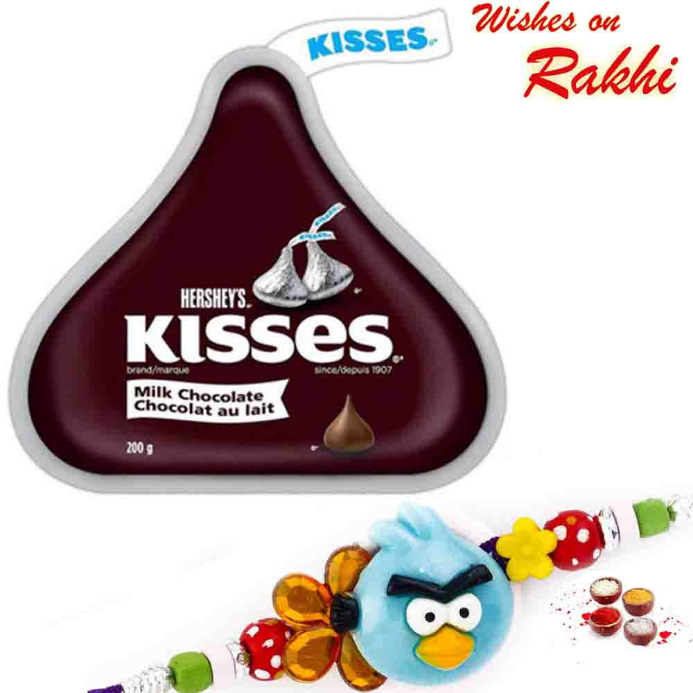 Hershey's Kisses Milk Chocolate with Bhaiya Rakhi
