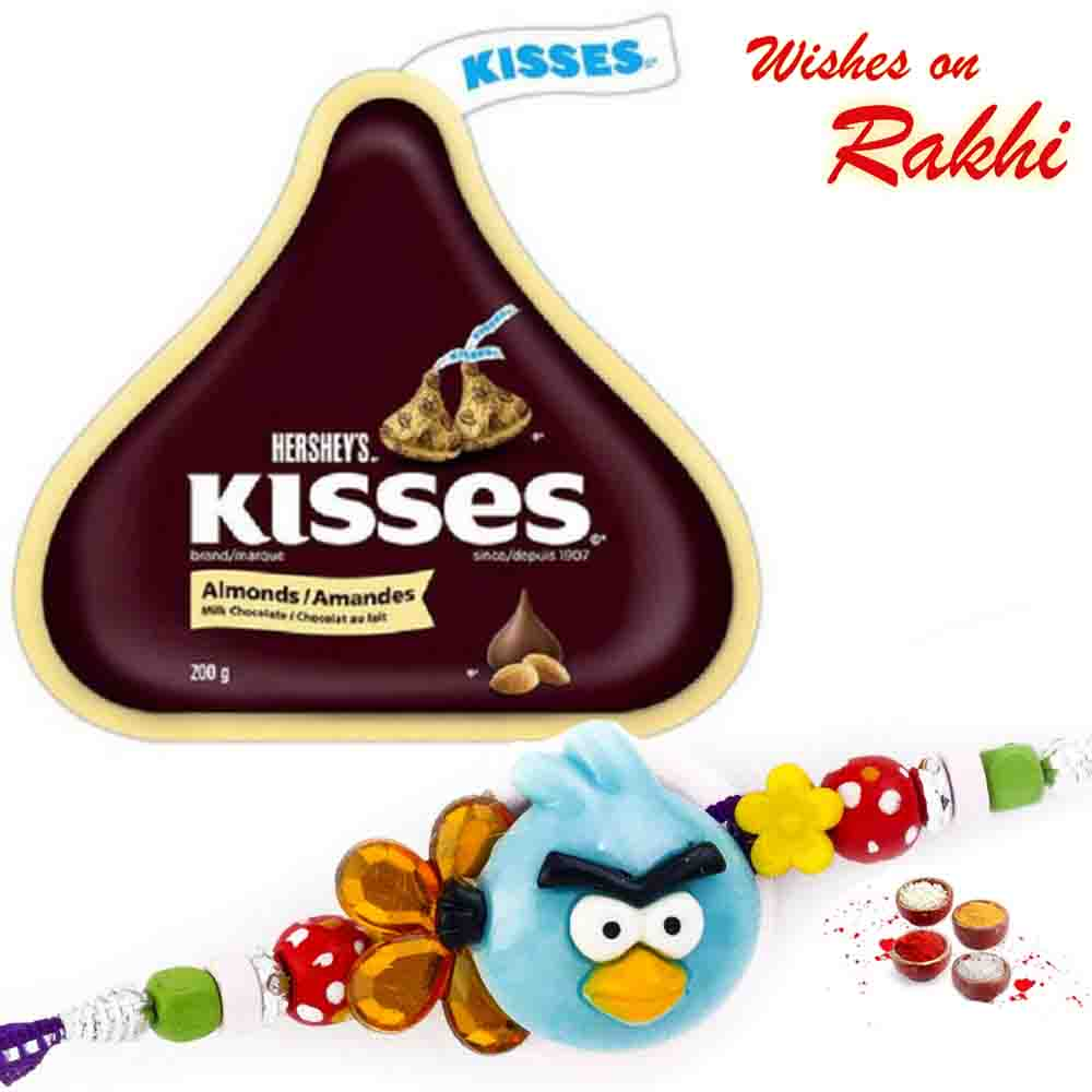 Hershey's Kisses Almonds Chocolate with Bhaiya Rakhi