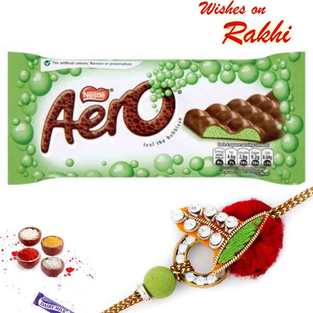 Nestle Aero Bubblers Peppermint Chocolate with Bhaiya Rakhi