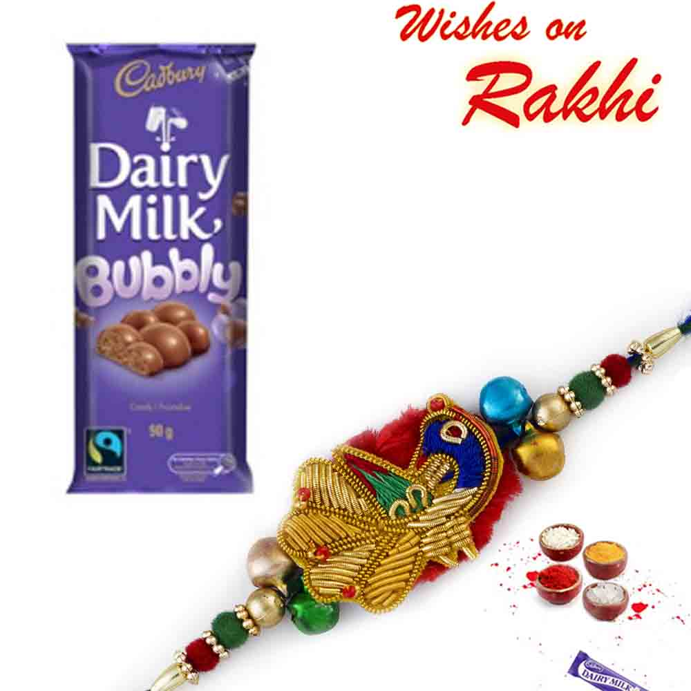 Dairy Milk Bubbly Chocolate with Bhaiya Rakhi