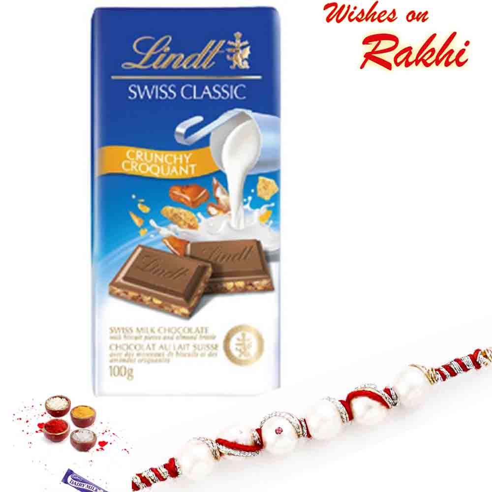 Lindt Swiss Classic Crunchy Chocolate with Bhaiya Rakhi