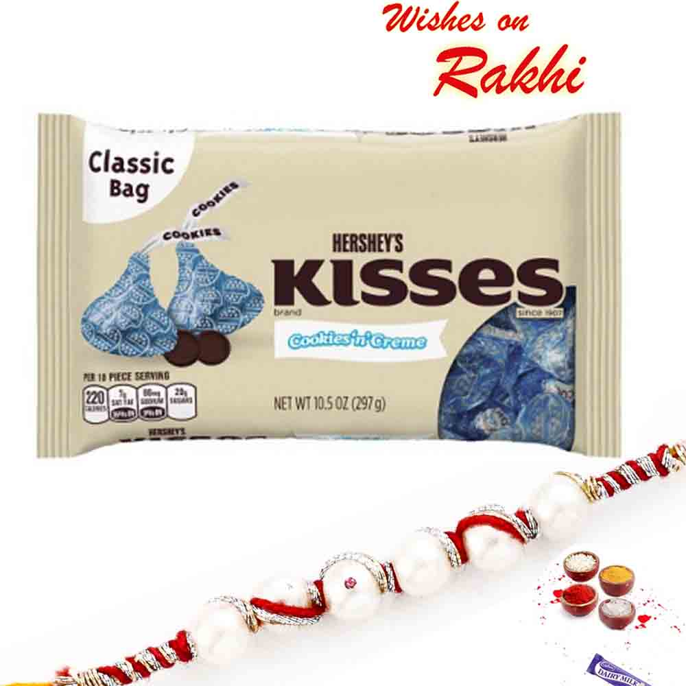 Hershey's Kisses Cookies n Crème with Bhaiya Rakhi
