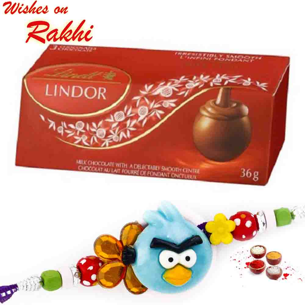 Lindt Lindor Delicious Chocolate with Bhaiya Rakhi
