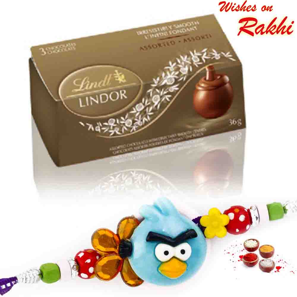 Lindt Lindor Assorted Chocolates with Bhaiya Rakhi