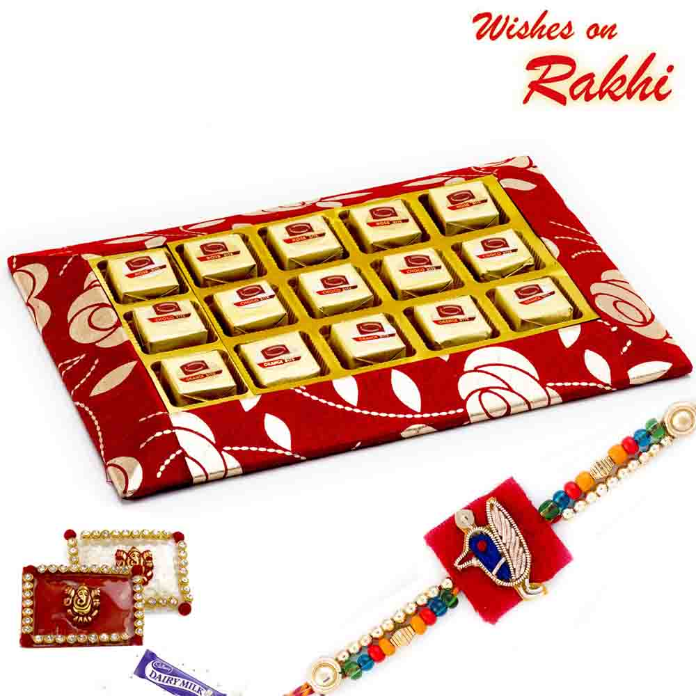 Premium Delicious Choco Orange & Rose Bite Slice Pack with FREE 1 Rakhi