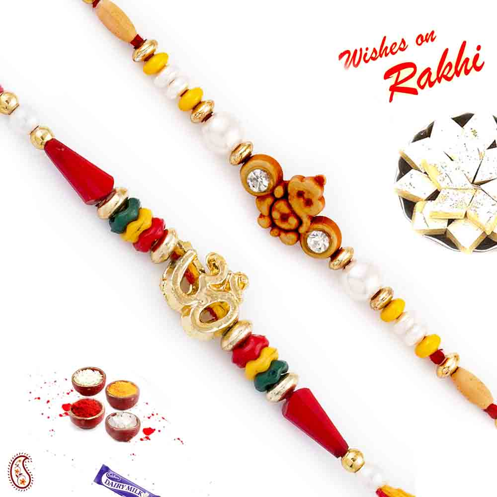 Set of 2 Divine Rakhi