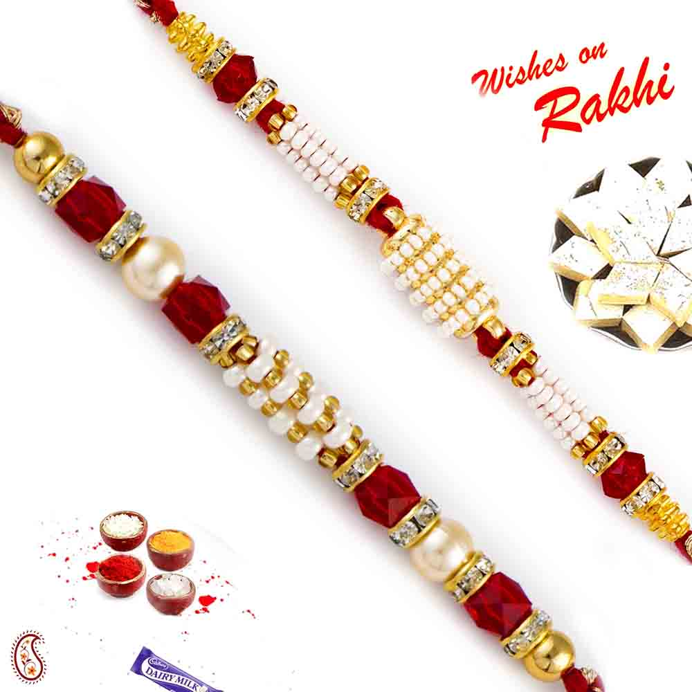 Set of 2 Pearl Rakhis