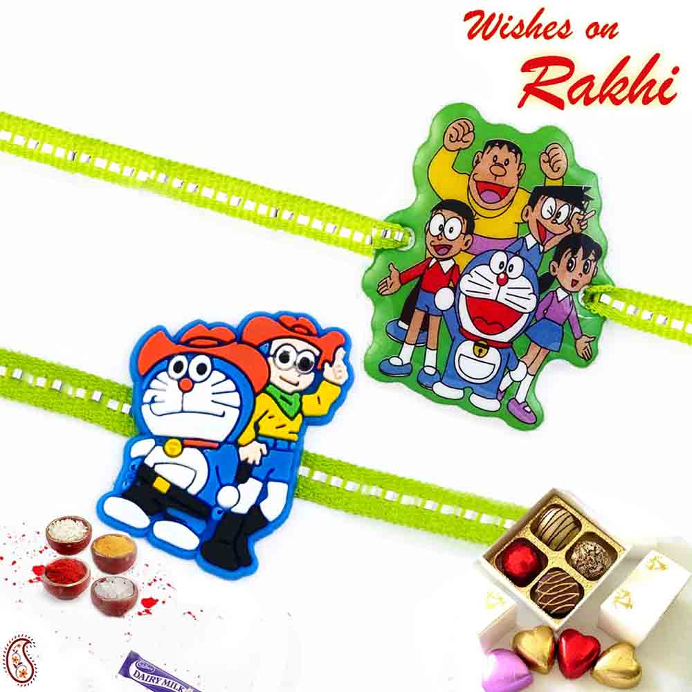 Set of 2 Doraemon Gang Rakhi