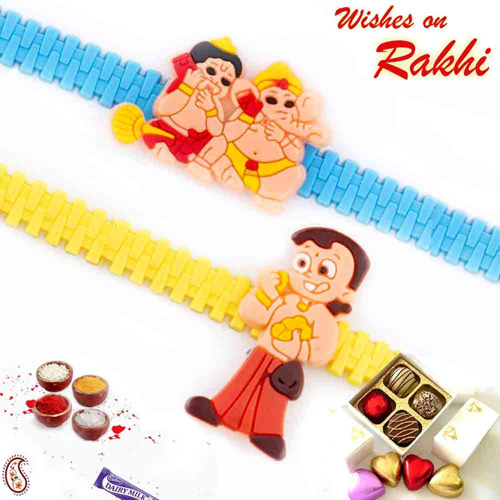 Set of 2 Chota Bheem wrist band Rakhi