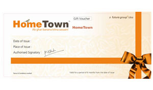 Home Town Gift Voucher worth Rs 2000/-