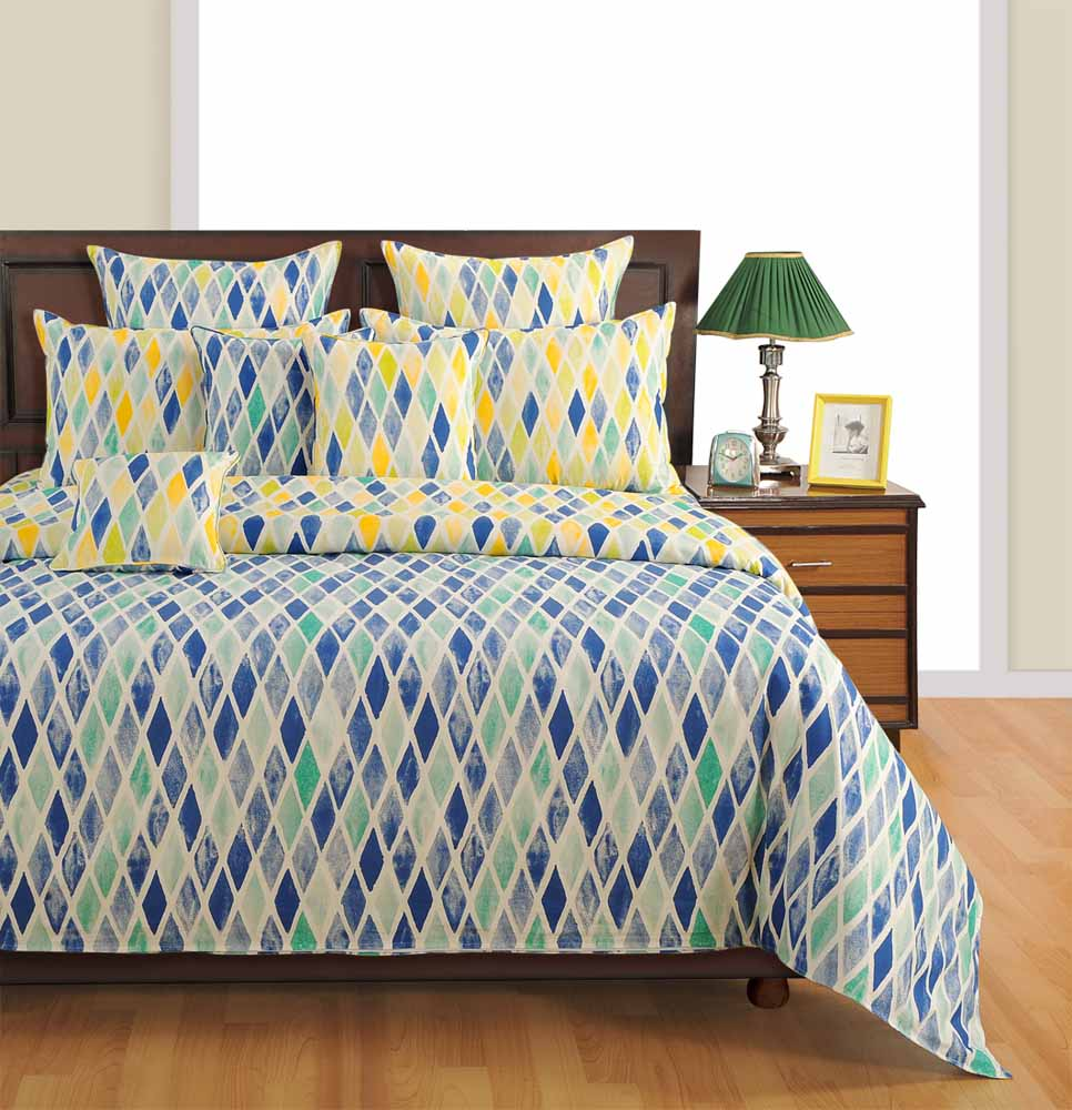 Swayam Yellow Colour Fitted Bed Sheet with Pillow Covers