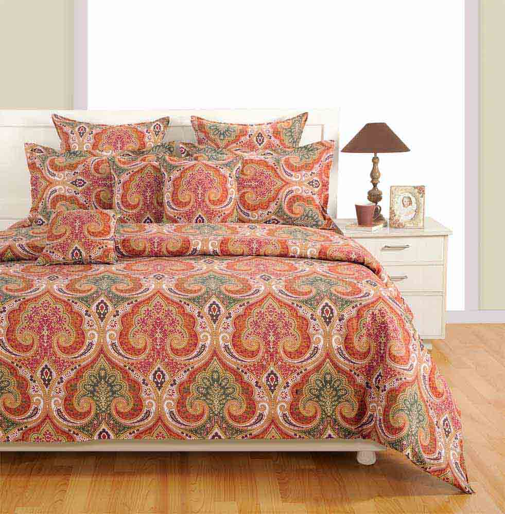 Swayam Brown Colour Bed Sheet with Pillow Covers